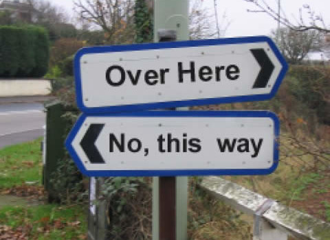 Try to give your customers better directions than this