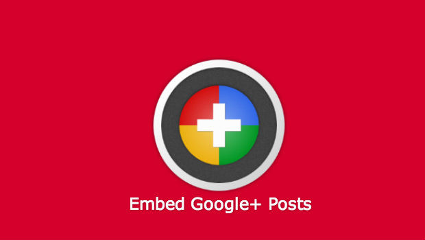 Embed Google PLus