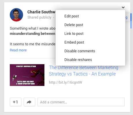 Google Plus embed Posts